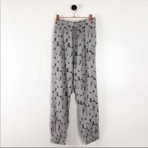 Aerie Drawstring Heart Pattern Pajama Pants Sz XL
